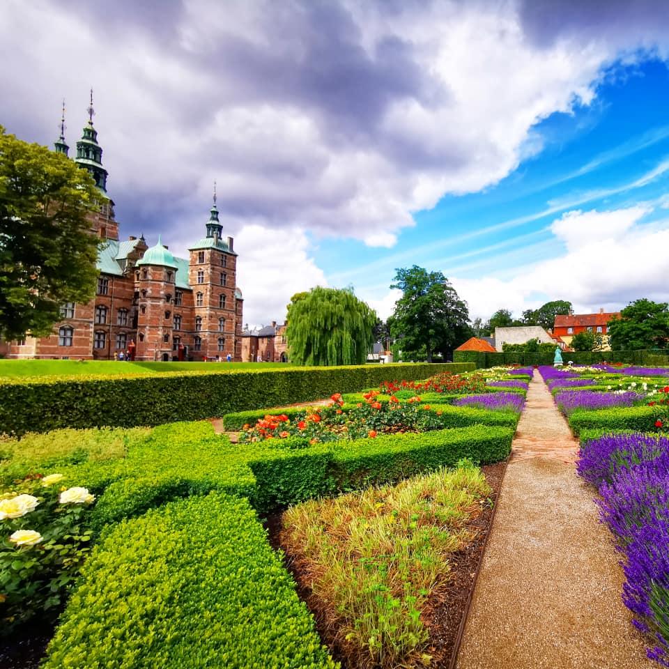 Castello di Rosemborg Copenaghen giardino in primavera