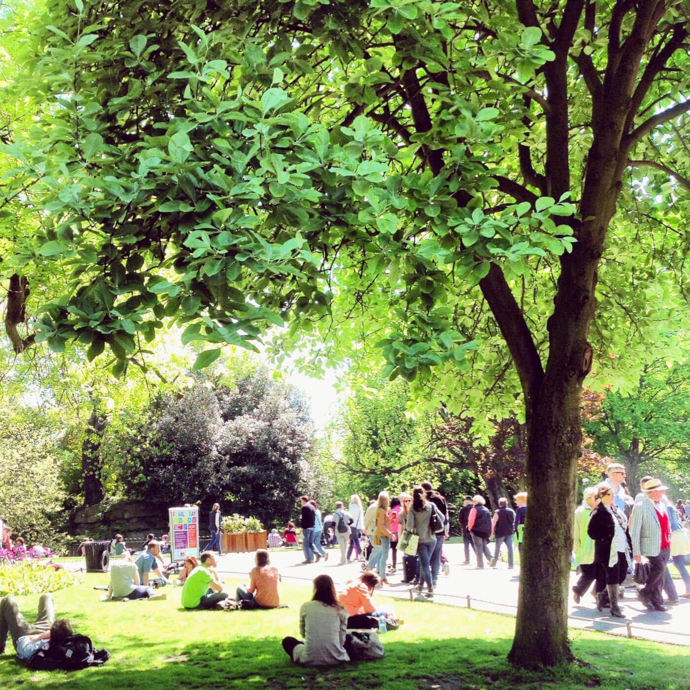 viaggiare-zaino-in-spalla-dublino-st-stephens-green-parco
