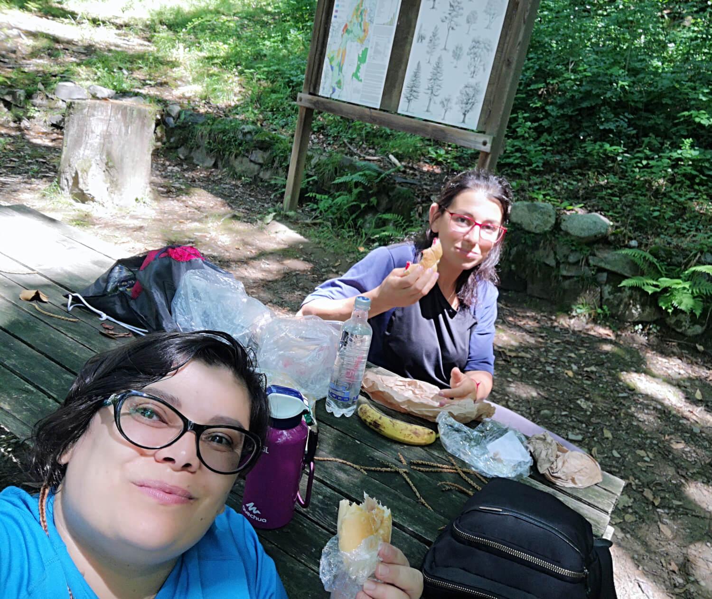 viaggiare zaino in spalla pranzo al sacco in valcamonica