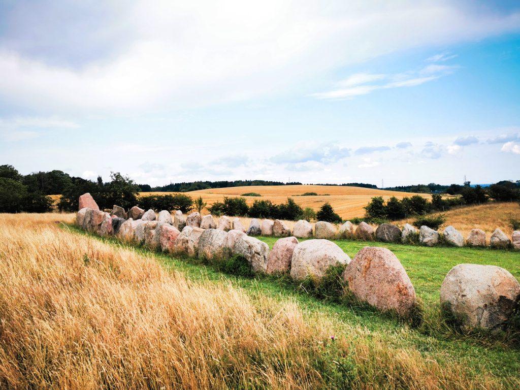 sito megalitico a forma di nave vichinga